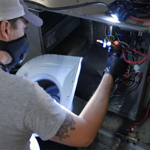 If water droplets containing the bacteria are sucked into the HVAC system, they can be pushed back out into the common indoor environment